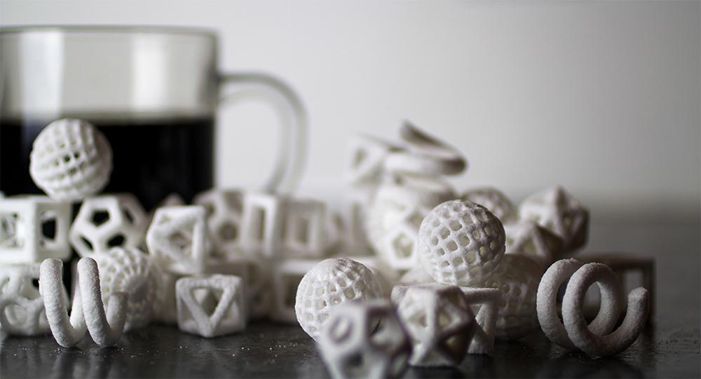 3D-gedruckte Zuckerstücke